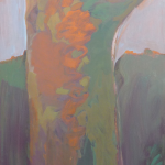 1964 oil on canvas. Mesaures: 40x25 inches