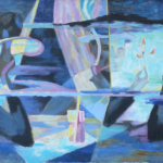 Dated 1949. Oil on Canvas. Measures: 22x36 inches.
