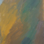 1960 oil on canvas.  Measures: 27x13 inches