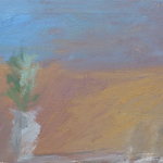 1959 oil on canvas. Measures: 9.5x12 inches