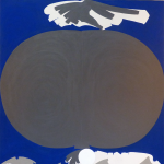 Dated 1967 verso. acrylic on canvas. Measures: 68x60 inches.